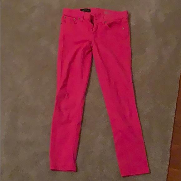 J. Crew Denim - Women's J Crew Pink Skinny Jeans - Size 26